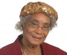 Older, Black Woman Smiling