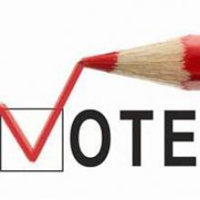 Pencil Checking a Box to Vote